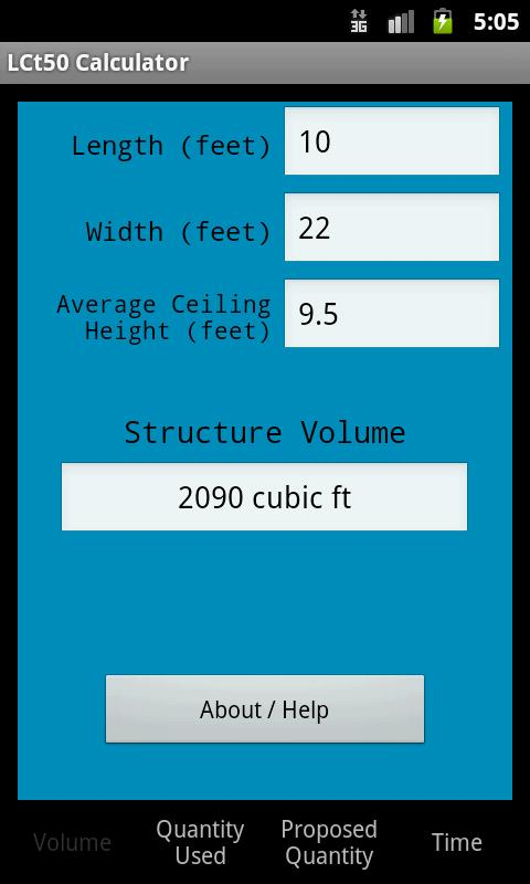 LCt50 Calculator- screenshot