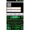 GO Keyboard Green Flame theme icon