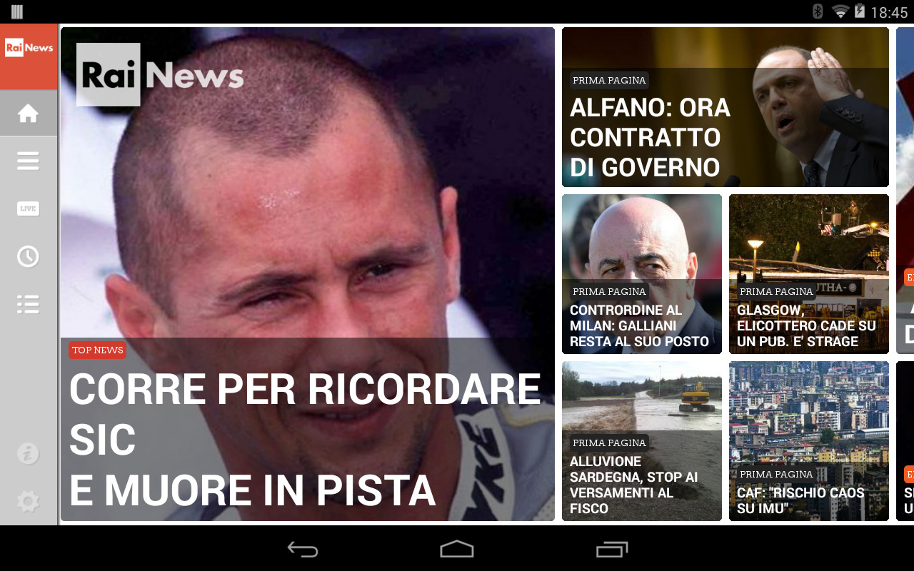 Rainews- screenshot