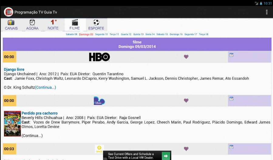 Programação TV - Guia TV BR - screenshot