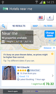Hotels near me - screenshot thumbnail