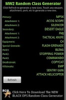 Screenshot of MW2 Random Class Generator