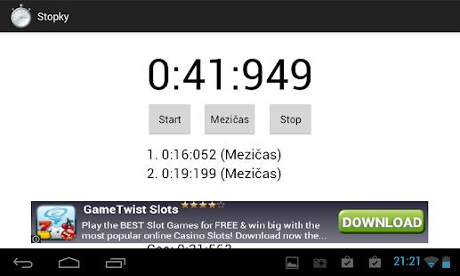 Stopwatch - screenshot thumbnail