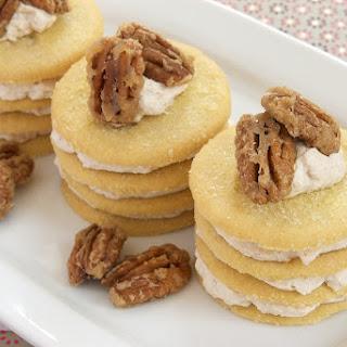 Cinnamon-Shortbread Icebox Cookie Stacks.