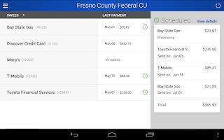 Screenshot of FCFCU Mobile