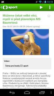 ČT sport- screenshot thumbnail