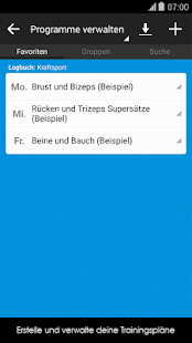 Trainingstagebuch Notizheft – Miniaturansicht des Screenshots
