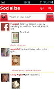 Red /W Socialize for Facebook