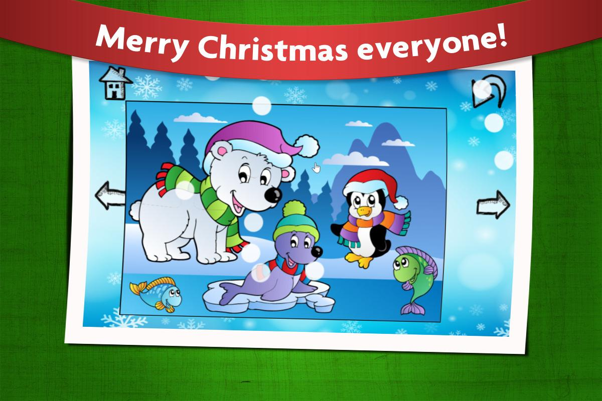 Christmas Games Kids Puzzles- screenshot