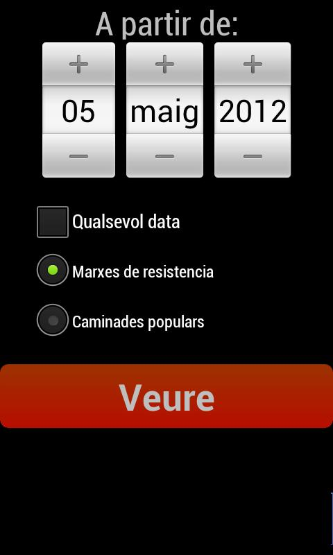 Calendario Marchas - screenshot