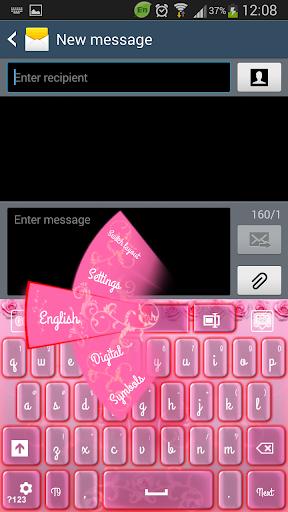 GO键盘粉红色的花