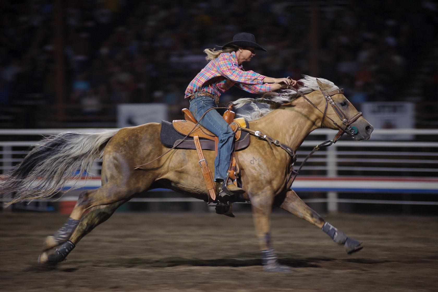 Barrel Racer, Cody Night Rodeo, Wyoming