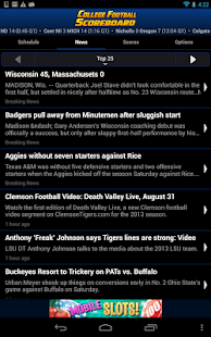 College Football Scoreboard - screenshot thumbnail