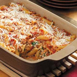 Baked Mostaccioli No Meat Recipes.