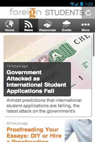 Foreign Students- screenshot