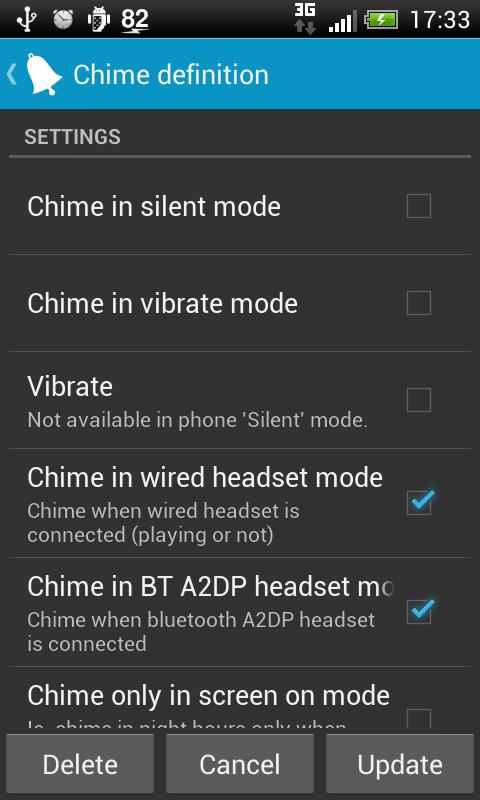 Hourly chime - screenshot