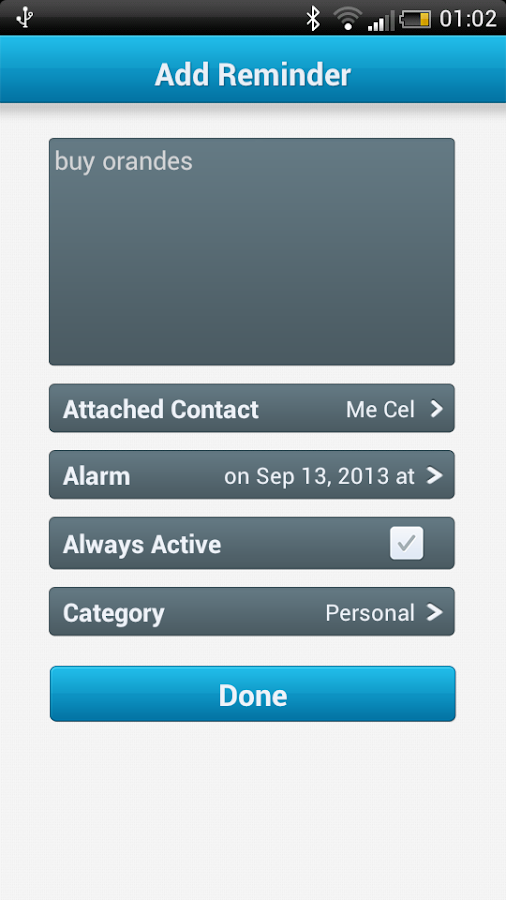 Call Reminder Notes - screenshot