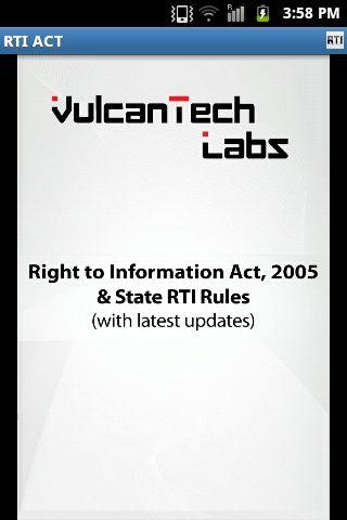 RTI Act India State Rules