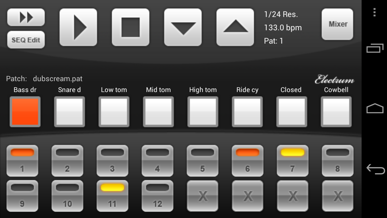 electrum drum machine sampler android