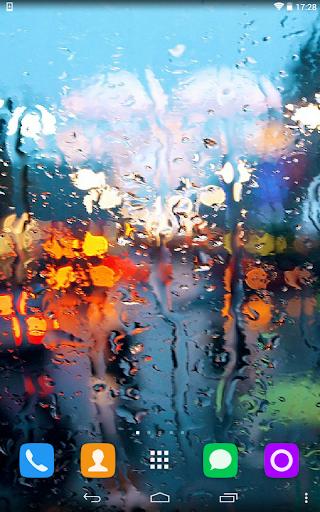 Rain On Window Live Wallpaper