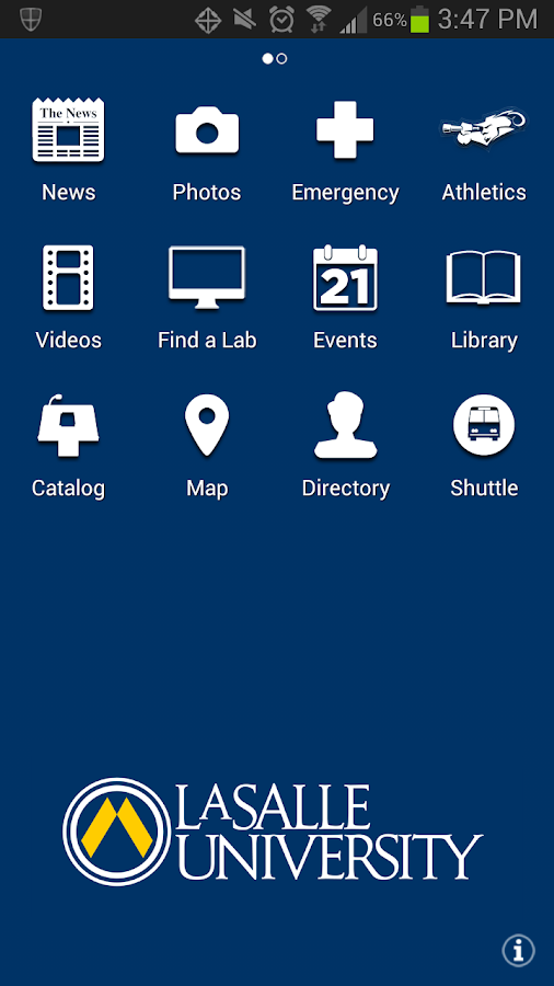 La Salle University - screenshot