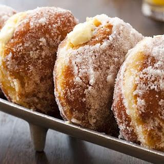 Vanilla Cream-Filled Doughnuts.