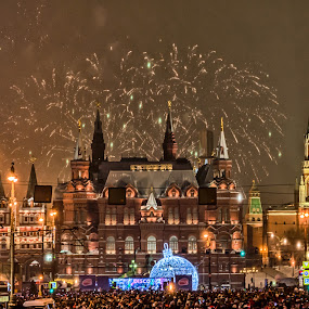 New Year 2015 by Alex Shanti - Public Holidays New Year's Eve ( russia, new year, firework, 2015, moscow, fireworks, long exposure,  )