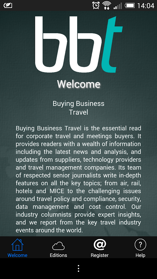 Buying Business Travel - screenshot