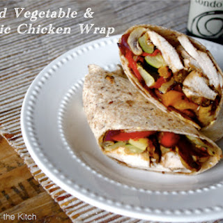 Roasted Vegetable & Balsamic Chicken Wrap.