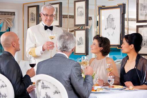 Uniworld-River-Baroness-Captain-dinner - You'll enjoy a lavish Captain's dinner during your cruise of France aboard Uniworld's River Baroness.