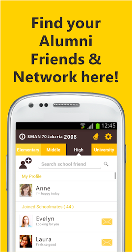 JOIN Alumni Find School Friend
