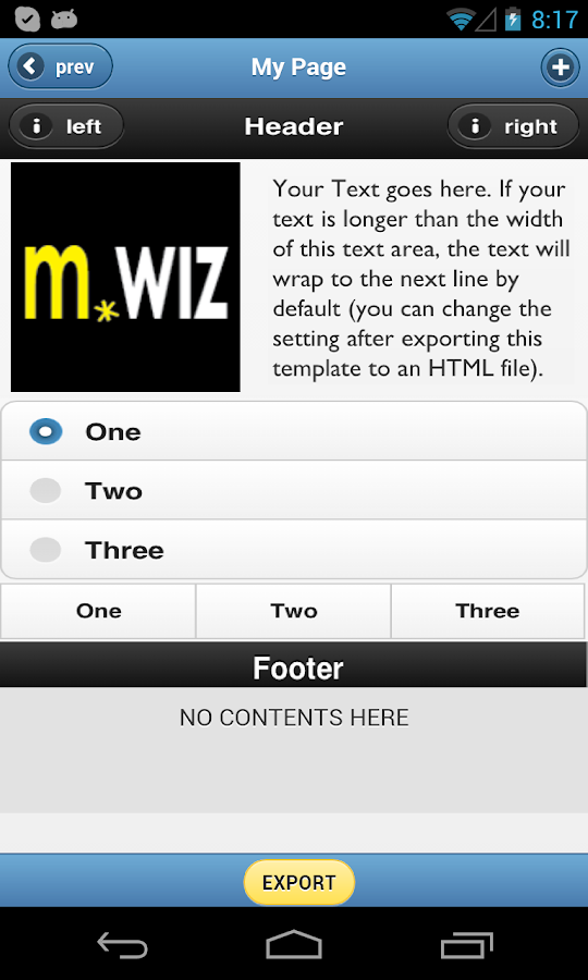 M.WIZ - screenshot