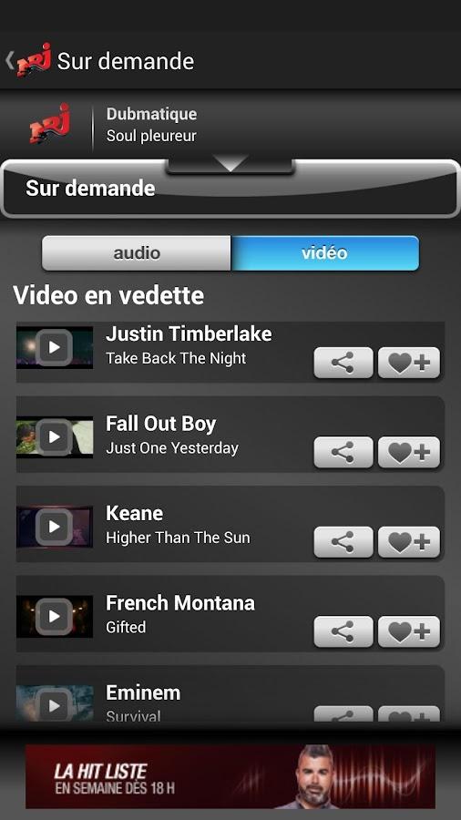 NRJ Québec - screenshot
