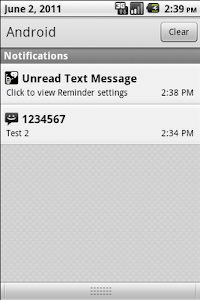 Missed Text Reminder screenshot 3