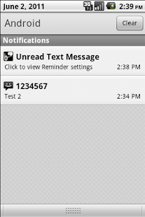 Missed Text Reminder - screenshot thumbnail