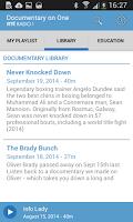 Screenshot of RTÉ Radio Documentary on One