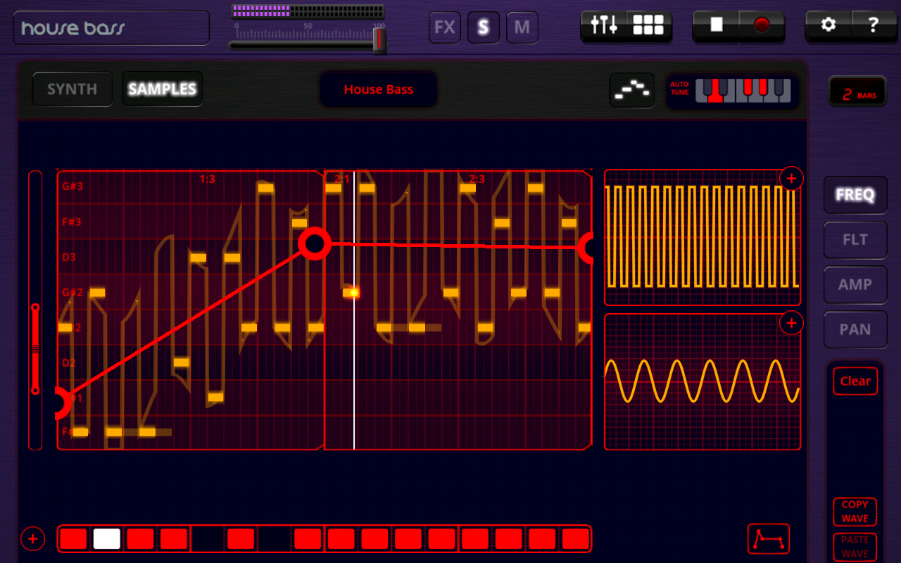 Oscilab - Step Sequencer - screenshot