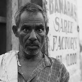 banaras saree factory by Alex Ribowski - People Portraits of Men ( moment, silence, view, man, eyes, , Travel, People, Lifestyle, Culture )