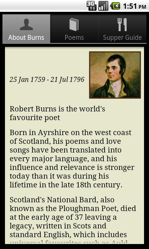 The Works of Robert Burns - screenshot