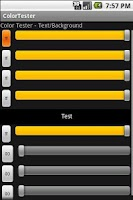 Screenshot of Color Tester
