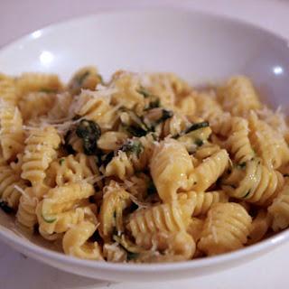 Pasta with Zucchini and Beaten Egg Yolk