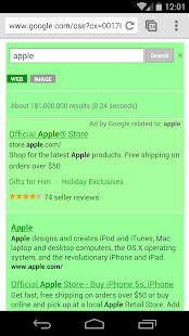 Green Search for Google™ - screenshot thumbnail
