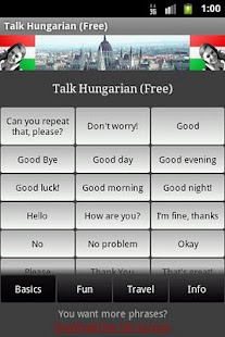 Talk Hungarian (Free) - screenshot thumbnail