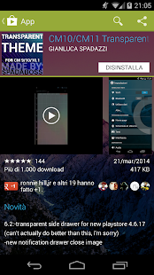 CM10/CM11 Transparent Theme - screenshot thumbnail