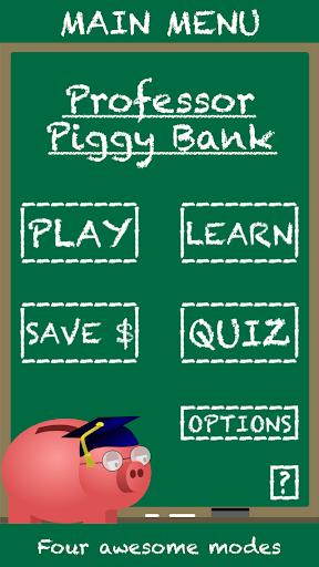 Professor Piggy Bank Coins