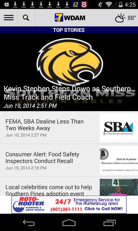 WDAM Local News - screenshot
