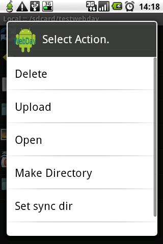 WebDavDroid Lite (Free)- screenshot