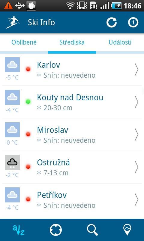 Ski Info CZ/SK- screenshot