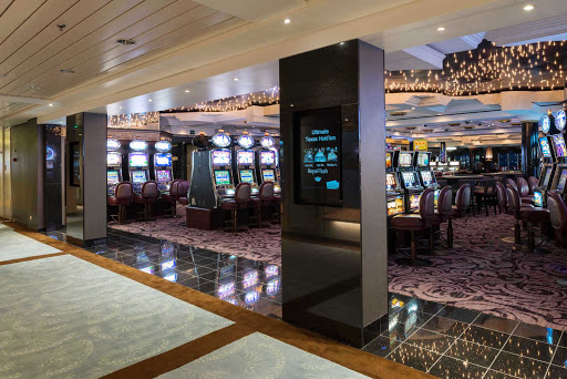 Crystal-Symphony-Casino-entrance - Try your luck with slots, blackjack or poker in the casino aboard Crystal Symphony.