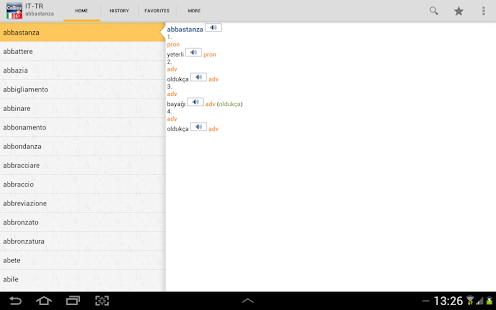 Italian<>Turkish Gem Dictionar - screenshot thumbnail